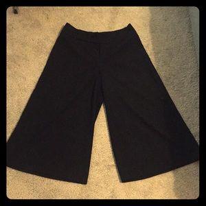 Zara cropped wide leg trousers